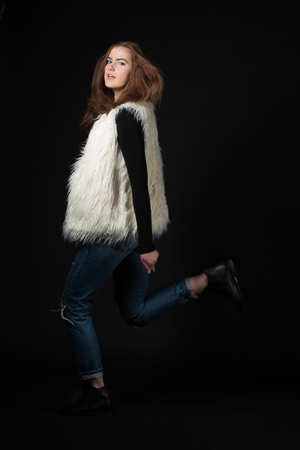 fur will always and forever be a wardrobe staple for the fall and winter seasons. a fur vest is an easy transition into the cooler weather because it has the furry texture, but it still comfortable so that one does not overheat. fur vest : target black shirt : nordstrom jeans : level 99 booties : topshop