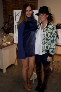 photo by self - Tiffany Brown of TRBrown design (right) with model wearing her piece (left)
