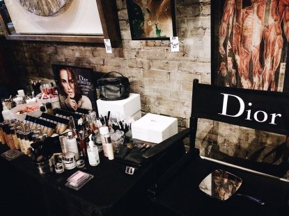 Dior Beauty table