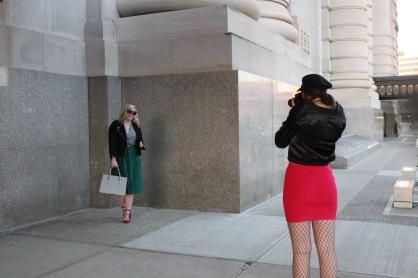 Shooting blogger Jana Meister Enevoldsen janastyleblog.com *photo by Kylie Helen Rifkin
